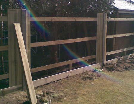 Wooden Fence installed in Basingstoke