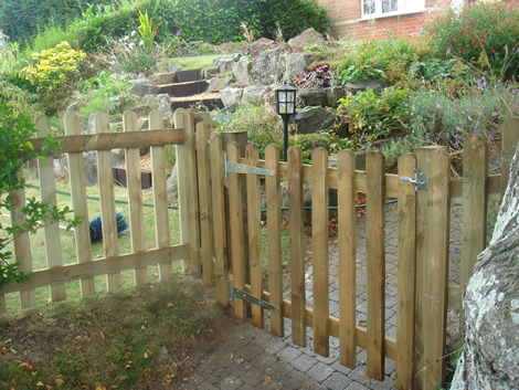 fitted wooden gate in Hampshire
