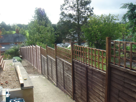 Wooden fencing in Basingstoke
