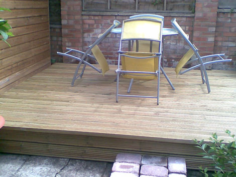 Wooden decking in Basingstoke
