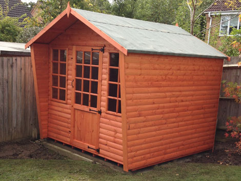 Sheds and wooden garden huts rg fencing basingstoke Outbuildings and sheds